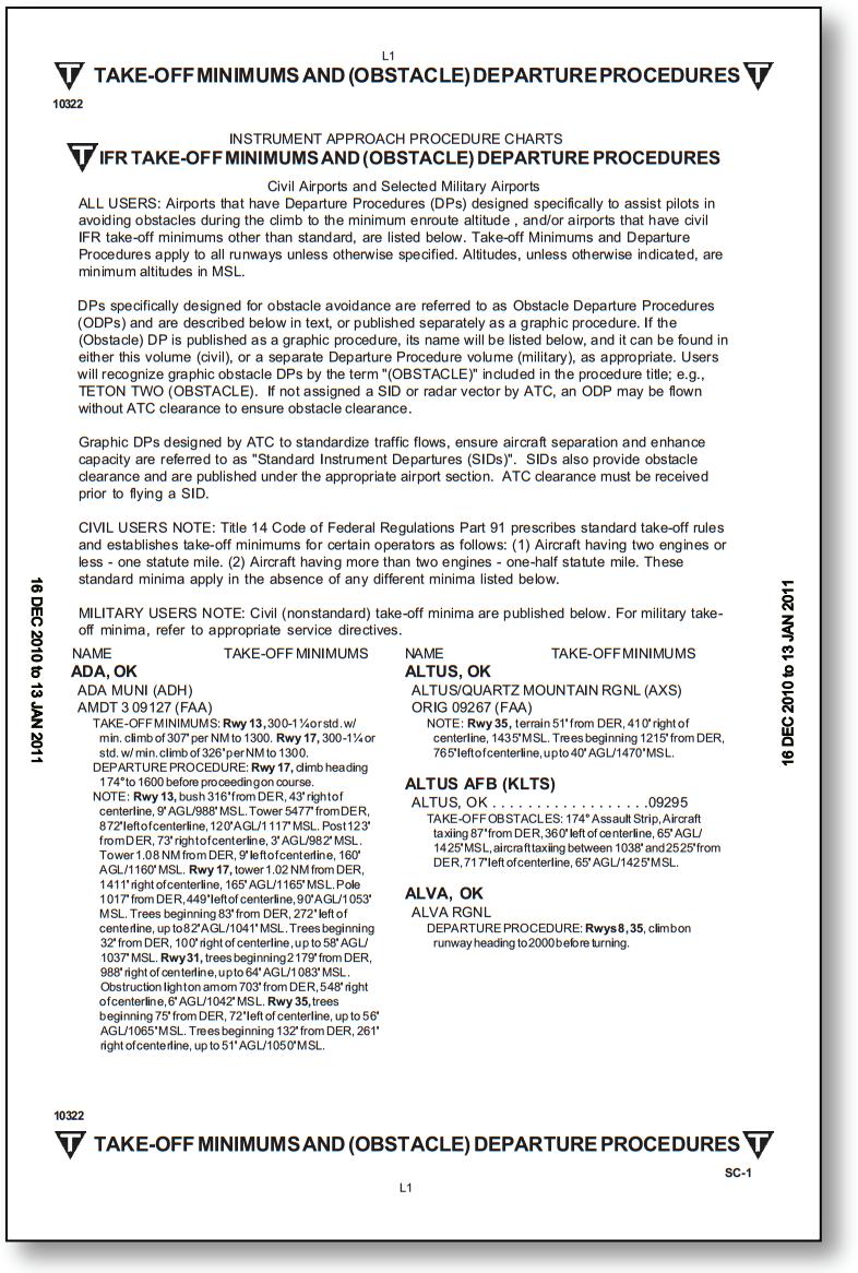 Departure Procedures (DPs)