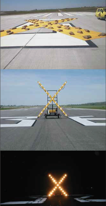 Closed Taxiway or Runway Marking