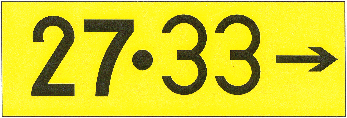 Destination Sign for Common Taxiing Route to Two Runways