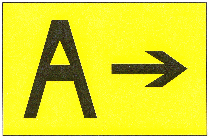 Direction Sign for Runway Exit
