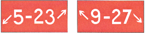 Holding Position Sign for a Taxiway that Intersects the Intersection of Two Runways