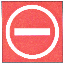 Sign Prohibiting Aircraft Entry into an Area