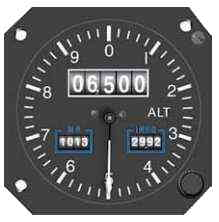 Instrument Flying Handbook. Figure 3-5, Drum-Type Altimeter