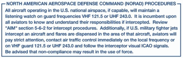 NORAD Intercept Procedures