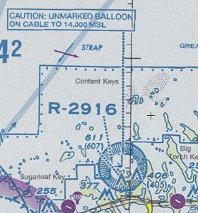 Sectional Chart Key West Surveillance Balloon
