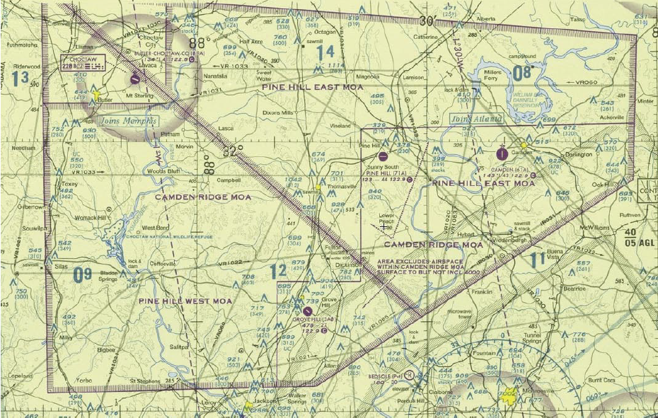 Sectional Chart Military Operating Area