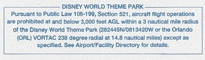 Disney World TFR Airspace