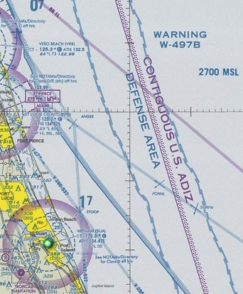 Warning Area Depicted