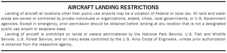 Airport/Facility Directory Airport Restrictions