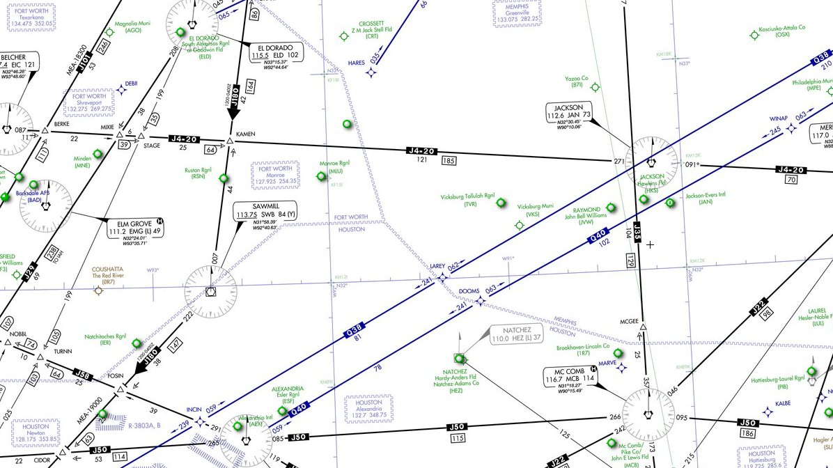 High Altitude En-route Chart