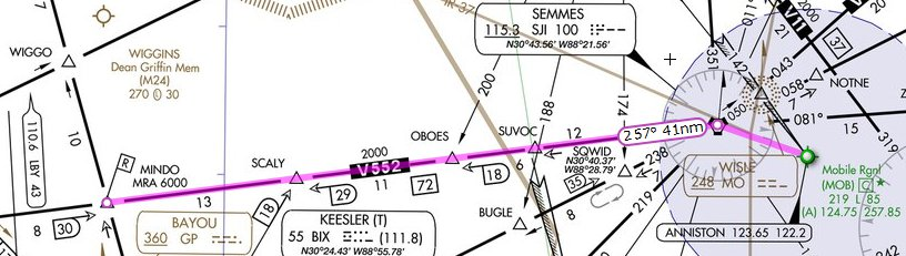 IFR Route Selection Planning