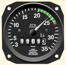Pilot Handbook of Aeronautical Knowledge, Tachometer