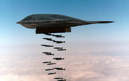 B-2 Dropping Bombs