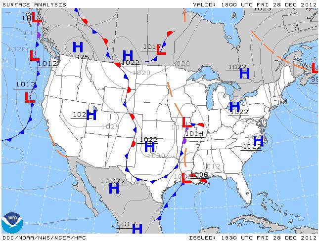 Surface analysis chart